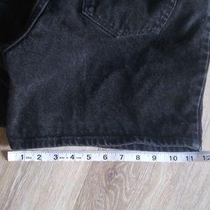 Wrangler Shorts - Vintage Wrangler Black Shorts Leather patch high